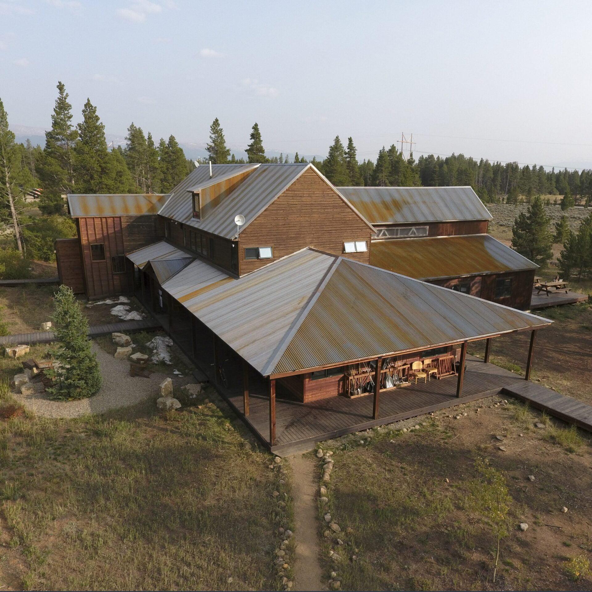Image shot at BMI Institute, Leadville, Colorado, Completed Sheet Metal Project, Drone Shots, September 17, 2020, Jeffrey Parr/Supreme Roofing
